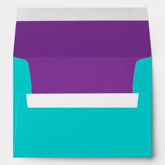 Elegant Bat Mitzvah Star Purple Invitation Envelope