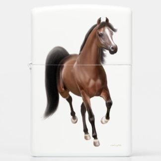 Elegant Bay Arabian Horse Zippo Lighter