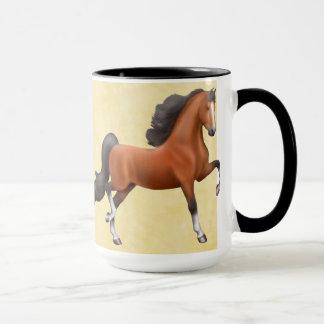 Elegant Bay Saddlebred Horse Mug