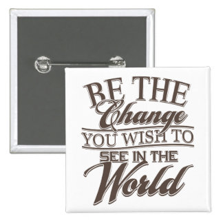 Elegant Be the Change Pinback Button