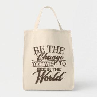 Elegant Be the Change Tote Bag