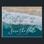 "Elegant Beach Blue Ocean Save the Date Postcard<br><div class=""desc"">Beach destination save the date postcards featuring a summer tropical beach island background, and a modern save-the-date template. For further personalization, please click the &quot;Customize it&quot; button to modify this template. All text style, colors, and sizes can be modified to suit your needs. You will find other matching wedding items...</div>"