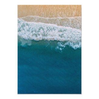 Elegant Beach Blue Ocean Wedding Invitation
