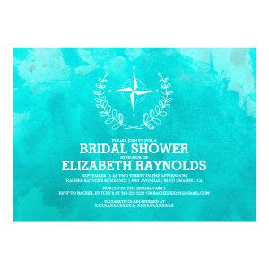 Elegant Beach Destination Bridal Shower Invitation Personalized Announcements