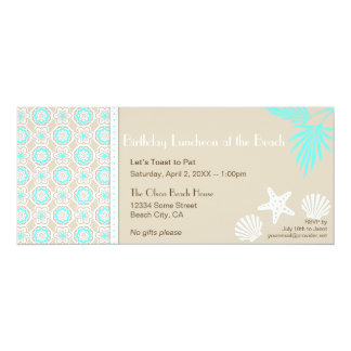 Elegant Beach Pattern Party Invitation 2
