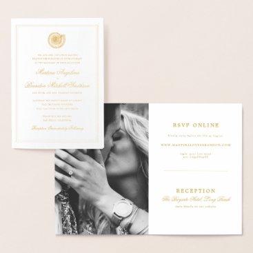 Beach Themed Elegant Beach Seashell Wedding Invitation Photo