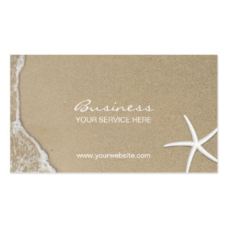 Elegant Beach & Starfish Appointment Business Card