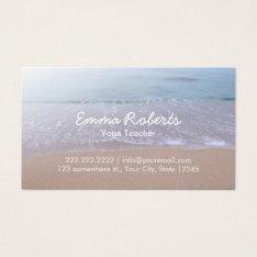 Elegant Beach Theme Yoga Business Card at Zazzle
