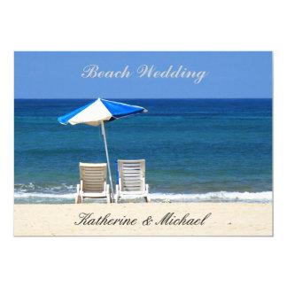 Elegant Beach Wedding Chairs 5x7 Paper Invitation Card
