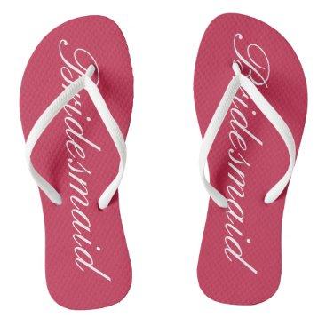 Beach Themed Elegant beach wedding flip flops for bridesmaids