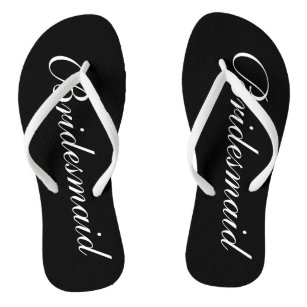 8b7d17f48 Elegant beach wedding flip flops for bridesmaids