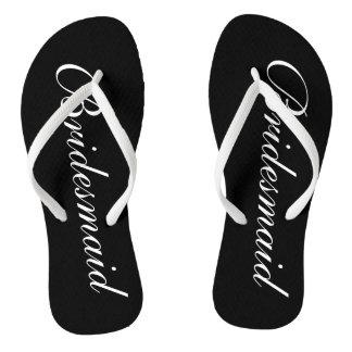 Elegant beach wedding flip flops for bridesmaids