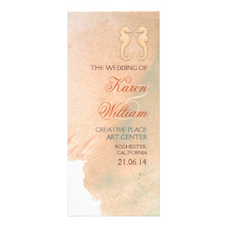 Elegant beach wedding programs