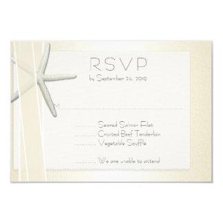 Elegant Beach Wedding RSVP Bayside Starfish Card
