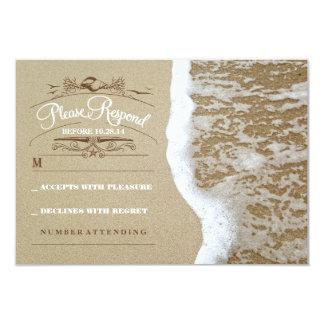 Elegant beach wedding RSVP card