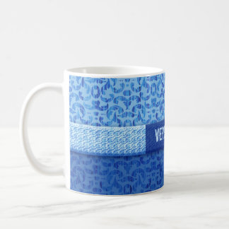 Elegant Beachcomber's Blue Damask Custom Coffee Mug
