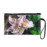 Elegant Beallara Orchid Wristlet Clutches