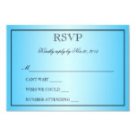 Elegant Beautiful Aqua Blue Metallic Wedding RSVP