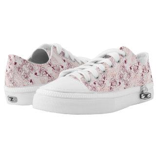 Elegant beautiful floral lace pink pattern Low-Top sneakers