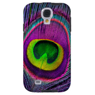 Elegant Beautiful Jewel Colored Peacock Feathers Galaxy S4 Case