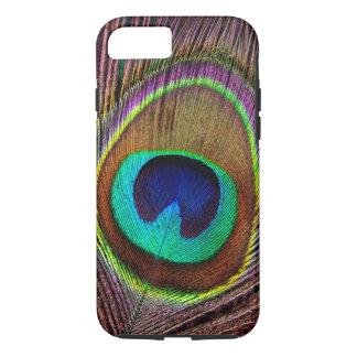 Elegant Beautiful Jewel Colored Peacock Feathers iPhone 8/7 Case