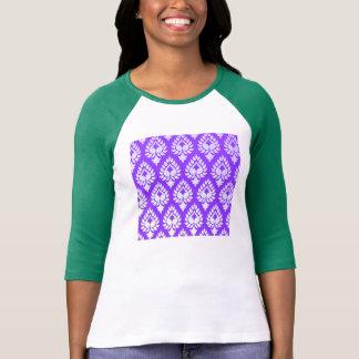 Elegant,beautiful,purple,white,damask,oriental,chi Shirts