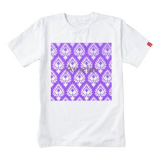 Elegant,beautiful,purple,white,damask,oriental,chi Zazzle HEART T-Shirt
