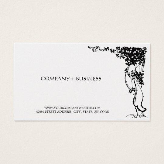 Elegant Beautiful Vintage Art Business Card Leaves