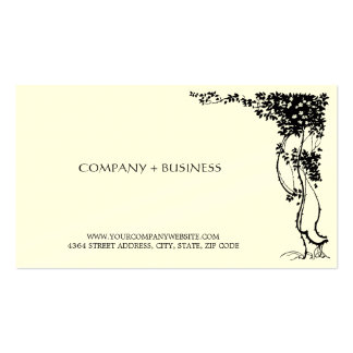 Elegant Beautiful Vintage Art Visiting Card Leaves Double-Sided Standard Business Cards (Pack Of 100)