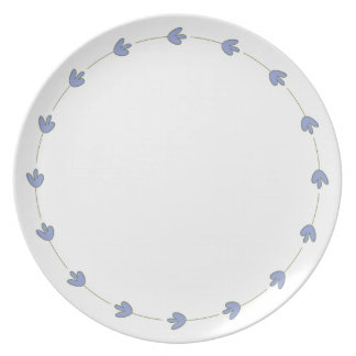 Elegant Beauty Blue Plate