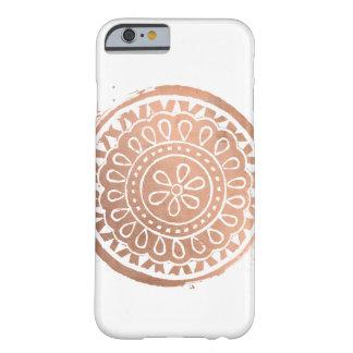 Elegant Beauty Boho Chic Rose Gold Mandala Barely There iPhone 6 Case