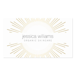 Elegant Beauty Gold Sunburst Cosmetologist, Salon Business Card