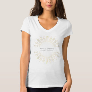 Elegant Beauty Gold Sunburst T-shirt