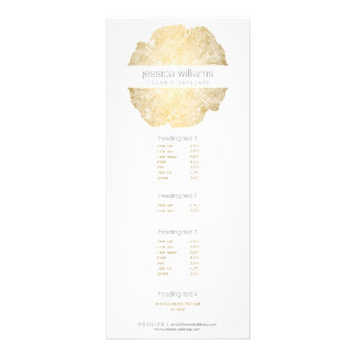 Elegant Beauty Gold Tree Ring Salon Rack Card