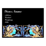 ELEGANT BEAUTY / LADY WITH BLUE BOW AND FLOWERS PACK OF CHUBBY BUSINESS CARDS