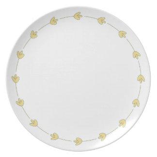 Elegant Beauty Melamine Plate