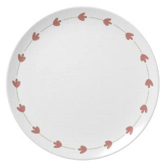 Elegant Beauty Rose Plate