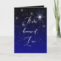 Elegant Because of Love Photo Scripture Christmas Card