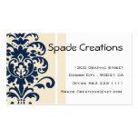 Elegant Beige Damask - Customized Business Cards