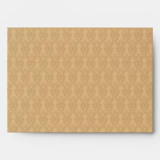 Elegant Beige Damask Pattern Envelope 5x7 (A7)