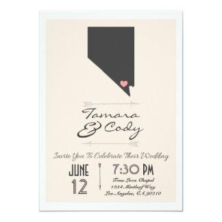 Elegant Beige Las Vegas, Nevada Wedding Invitation