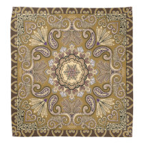 Elegant beige Paisley Pattern Bandana