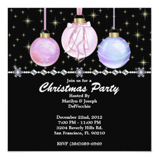 Elegant Bells and Stars CUTE Christmas Holiday Par Card