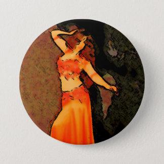 Elegant Bellydancer Button