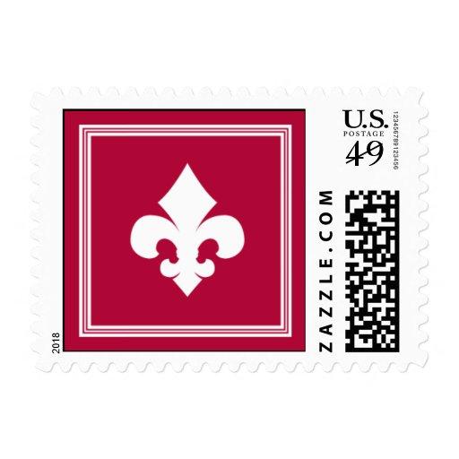 Elegant Berry Fleur Stamps