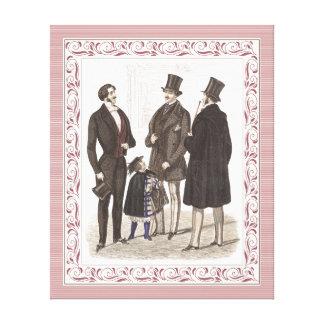 Elegant Biedermeier Gentlemen in Top Hats Canvas Prints