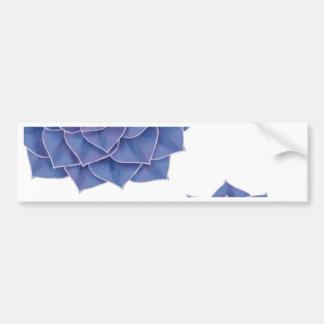 Elegant Big Purple Echeveria Design Bumper Sticker