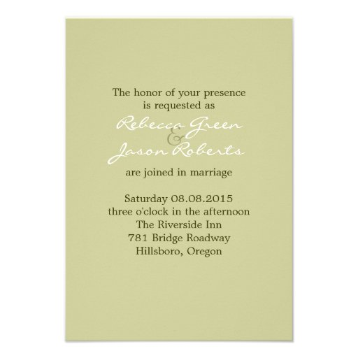elegant birch tree green  floral country wedding custom announcements (back side)