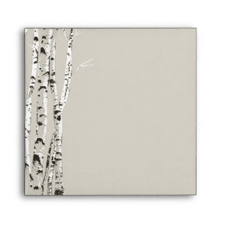 Elegant Birch Trees Wedding Envelope