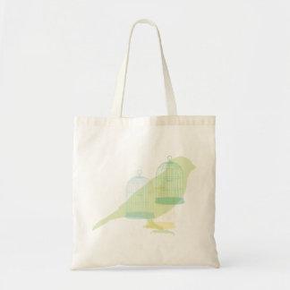 Elegant bird design canvas bags